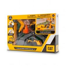 """Игровой набор CAT с мини-техникой и игровым полем """"Строительная площадка"""" 82950"""