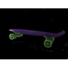 Пенни борд GO Travel, Фиолетовая, зеленые колеса 56 см LS-