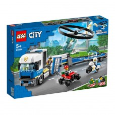 LEGO City Конструктор Полицейский вертолётный транспорт 60