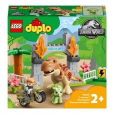 LEGO DUPLO Конструктор Побег динозавров: тираннозавр и три