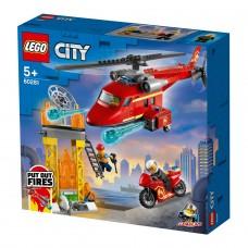 LEGO City Конструктор Пожарный спасательный вертолет 60281