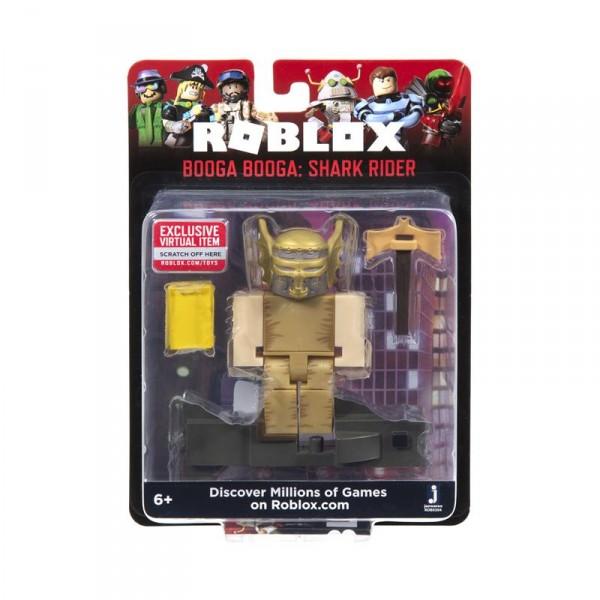 Игровая коллекционная фигурка Jazwares Roblox Core Figures Booga Booga: Shark Rider W7 ROB0304