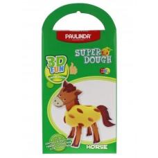 Масса для лепки Paulinda Super Dough 3D FUN Лошадь PL-0812