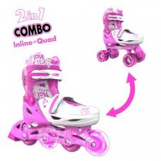 Роликовые коньки Neon Combo Skates Розовый (Размер 30-33)