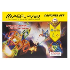Конструктор Magplayer магнитный набор 62 эл. MPB-62