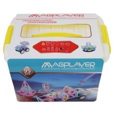 Конструктор Magplayer магнитный набор бокс 95 эл. MPT2-95