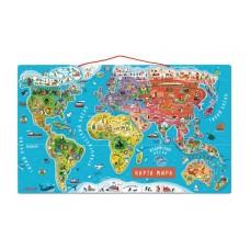 Магнитная карта мира Janod русс.язык J05483