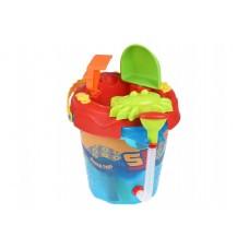 Набор для игры с песком Same Toy 6 ед Ведерко синее 976Ut-