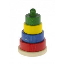 Пирамидка nic деревянная Этажная разноцветная NIC2312