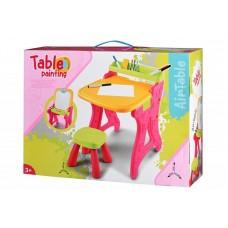 Столик-мольберт Same Toy розовый 8816Ut