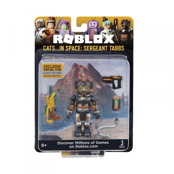 Игровая коллекционная фигурка Jazwares Roblox Core Figures Cats...IN SPACE: Sergeant Tabbs W5 ROG0163
