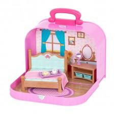 Игровой набор Lil Woodzeez Кейс фиолетовый (Спальня) с аксессуарами WZ6598Z