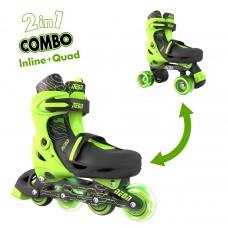 Роликовые коньки Neon Combo Skates Салатовый (Размер 30-33