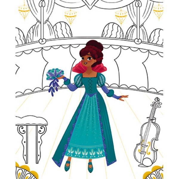 Блокнот модные наряды Janod Принцессы J07832