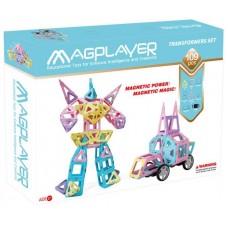 Конструктор Magplayer магнитный набор 109 эл. MPH2-109