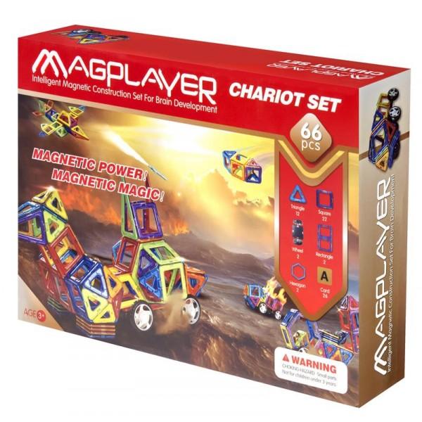 Конструктор Magplayer магнитный набор 66 эл. MPA-66