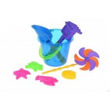 Набор для игры с песком Same Toy с Воздушной вертушкой (си