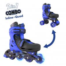 Роликовые коньки Neon Combo Skates Синий (Размер 34-38) NT
