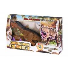 Динозавр Same Toy Dinosaur Planet коричневый со светом и з
