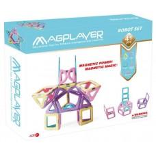 Конструктор Magplayer магнитный набор 41 эл. MPH2-41