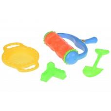 Набор для игры с песком Same Toy с Валиком (оранжевый) 4 ш
