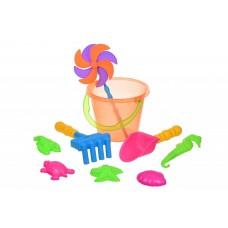 Набор для игры с песком Same Toy с Воздушной вертушкой (ор