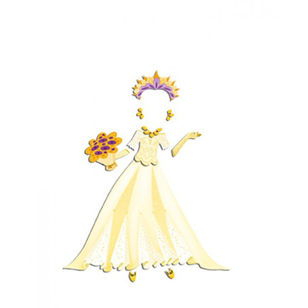 Блокнот модные наряды Janod Свадьба J07834