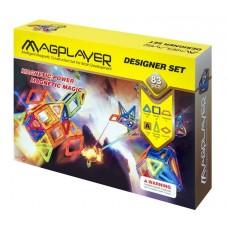 Конструктор Magplayer магнитный набор 83 эл. MPA-83