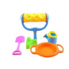Набор для игры с песком Same Toy с Валиком (желтый) 5 шт H