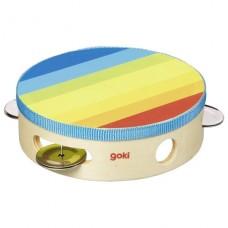 Музыкальный инструмент goki Бубен радуга 61920G