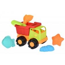 Набор для игры с песком Same Toy 6 ед Грузовик Зеленый 988