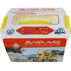 Конструктор Magplayer магнитный набор бокс 68 эл. MPT2-68