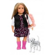 Кукла Lori 15 см Гиа с собачкой Далматинец LO31058Z