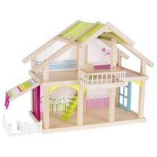 Кукольный домик goki 2 этажа с внутренним двориком Susibel
