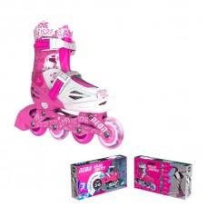 Роликовые коньки Neon Inline Skates Розовый (Размер 30-33)