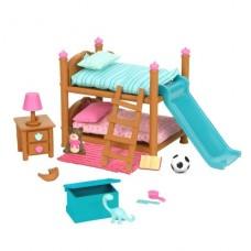 Игровой набор Lil Woodzeez Двухъярусная кровать для детской комнаты 6169Z
