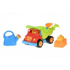Набор для игры с песком Same Toy 6 ед Грузовик красный 973