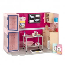 Игровой набор Our Generation Ветеринарная клиника, розовый