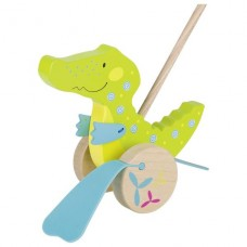 Игрушка-толкатель goki Крокодил 54911G