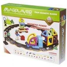 Конструктор Magplayer магнитный набор 68 эл. MPK-68