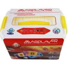 Конструктор Magplayer магнитный набор бокс 81 эл. MPT2-81