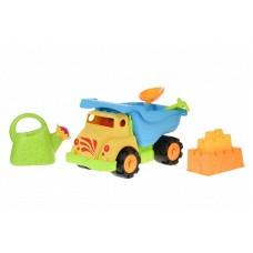 Набор для игры с песком Same Toy 6 ед Грузовик Желтый 973U