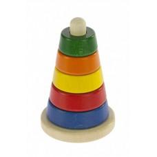 Пирамидка nic деревянная Коническая разноцветная NIC2311
