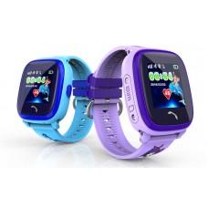 Детские телефон-часы с GPS трекером GOGPS ME K25 Пурпурные