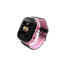 Детские телефон-часы с GPS трекером GOGPS ME K12 Розовые