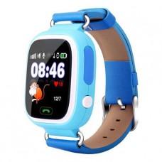 Детские телефон-часы с GPS трекером GOGPS К04 синие