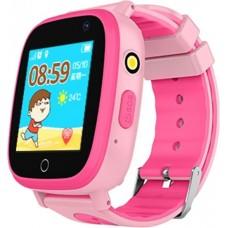Детские телефон-часы с GPS трекером GOGPS ME K14 Розовые
