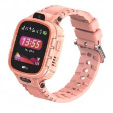 Детские телефон-часы с GPS трекером GOGPS ME K27 Розовые