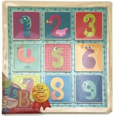 Деревянная игрушка-вкладыш Магнитные цифры BX1848GZ
