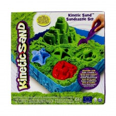 Набор песка для детского творчества -Kinetic Sand Замок Из Песка (зеленый, 454 г, формочки, лоток) 71402G